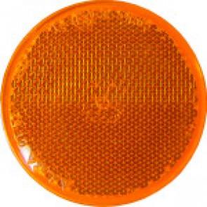 CATADIOPTRE ROND ORANGE adhésif diamètre 60 mm