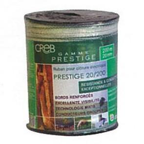 RUBAN PRESTIGE 2CMX2 00M BLANC/VERT(4 I