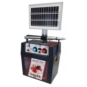 Electrificateur SOLAIRE pour clôture jusqu'à 15km Batterie 30A / 12V