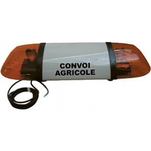 Rampe Convoi agricole avec 2 gyrophares