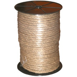 CORDAGE CHANVRE Diamètre 12mm 4T. BOBINE