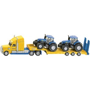 CAMION AVEC TRACTEURS NEW HOLLAND     SI