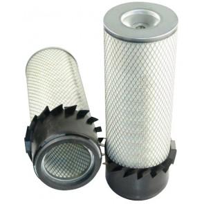 Filtre à air primaire pour tractopelle JCB 3 C moteur PERKINS 298604->306000 LD 50096