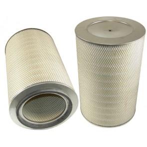 Filtre à air primaire pour moissonneuse-batteuse DEUTZ-FAHR 4075 H/HTS TOPLINER moteurDEUTZ 240 CH BF 6 L 913 C