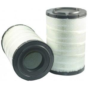 Filtre à air primaire pour chargeur KOMATSU WA 380-5H moteur KOMATSU 2002-> 0051-> SA 6 D 114-E2