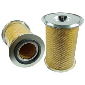 Filtre à air primaire pour télescopique JCB 525 moteur PERKINS 561011-> AA50261/AB50260