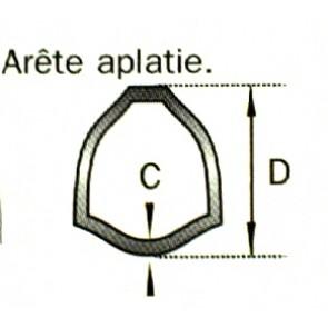 TUBE TRIANGLE 36X3.2 LE METRE
