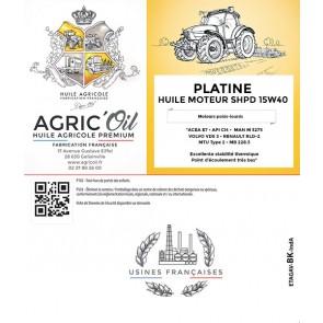 HUILE PLATINIUM 15W40  60l